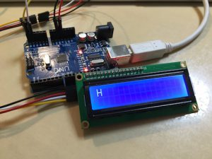 【Arduino】[LCD] print()で文章を出力しても一文字目しか表示されない