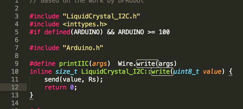 write()function